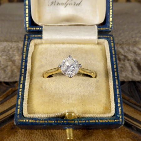 ON HOLD... 1.08ct Diamond Solitaire Engagement Ring in 18ct Yellow Gold