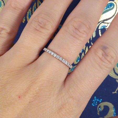 Contemporary Fine Diamond Full Eternity Ring in 18ct White Gold