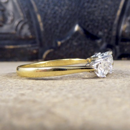 ON HOLD Vintage 2.15ct Five Stone Diamond Ring Large in Size in 18ct Gold