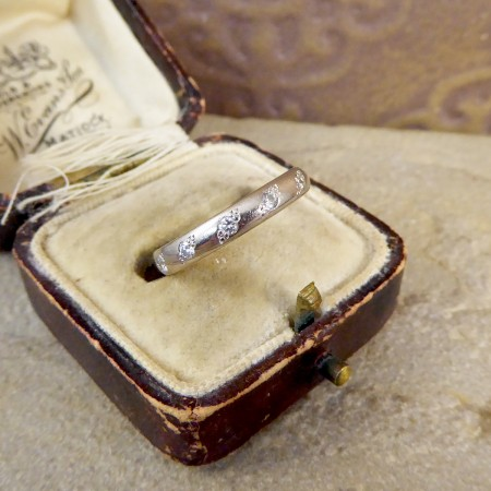 Contemporary Charles Green and Son Diamond Set 18ct White Gold Wedding Band