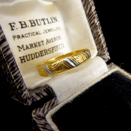 Charles Green and Son 22ct Yellow Gold and Platinum Wedding Band