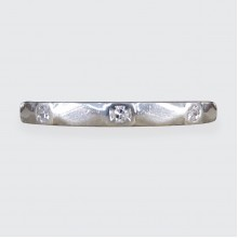 Art Deco Diamond Set Fine Platinum Band