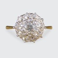 Edwardian Diamond Cluster Ring in 18ct Yellow and White Gold