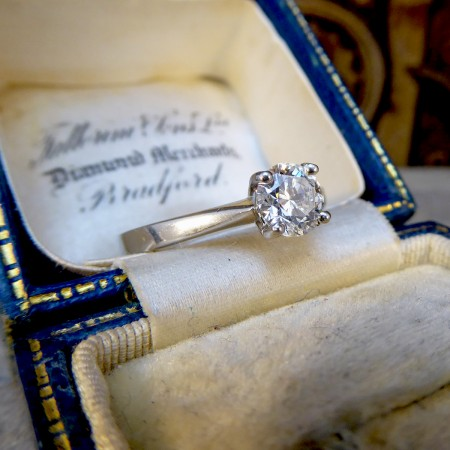 0.70ct Diamond Solitaire Engagement Ring Modelled in Platinum