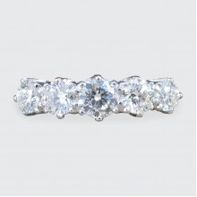 SOLD Contemporary 1.30ct Total Five Stone Diamond Ring in Platinum