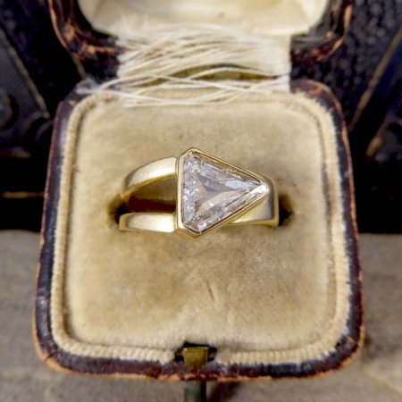 Contemporary 1.15ct Kite Cut Diamond Ring in 18ct Yellow Gold