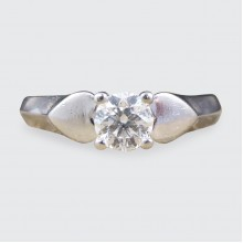 Contemporary 0.33ct Brilliant Cut and Colour Diamond Engagement Ring in Platinum