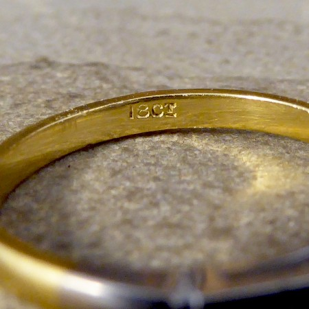 Vintage 0.35ct Diamond Solitaire Ring in 18ct Yellow Gold and White Gold