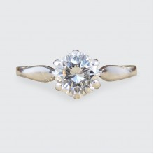 SOLD 0.55ct Diamond Solitaire Engagement Ring Modelled in 18ct White Gold