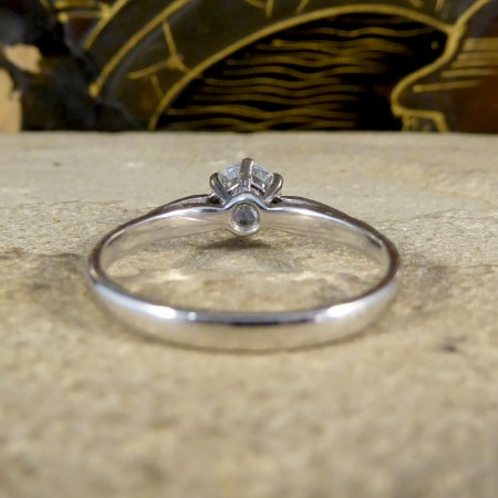 0.55ct Diamond Solitaire Engagement Ring Modelled in 18ct White Gold