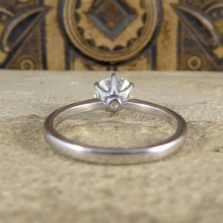 1.04ct Brilliant Cut Diamond Solitaire Engagement Ring in 18ct White Gold