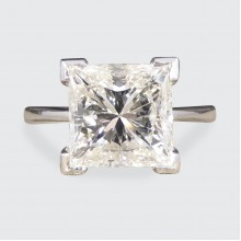 2.95ct Princess Cut Diamond Solitaire Engagement Ring in 18ct White Gold