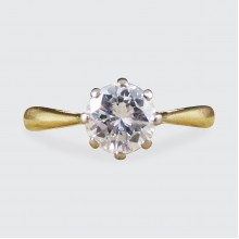 0.70ct Brilliant Cut Diamond Solitaire Engagement Ring in 18ct Gold