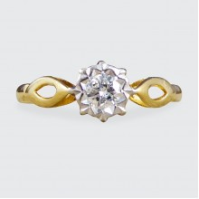 SOLD Brilliant Cut Diamond Solitaire Engagement Ring in 18ct Gold